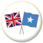 Great Britain and Somalia Friendship Flag 25mm Pin Button Badge